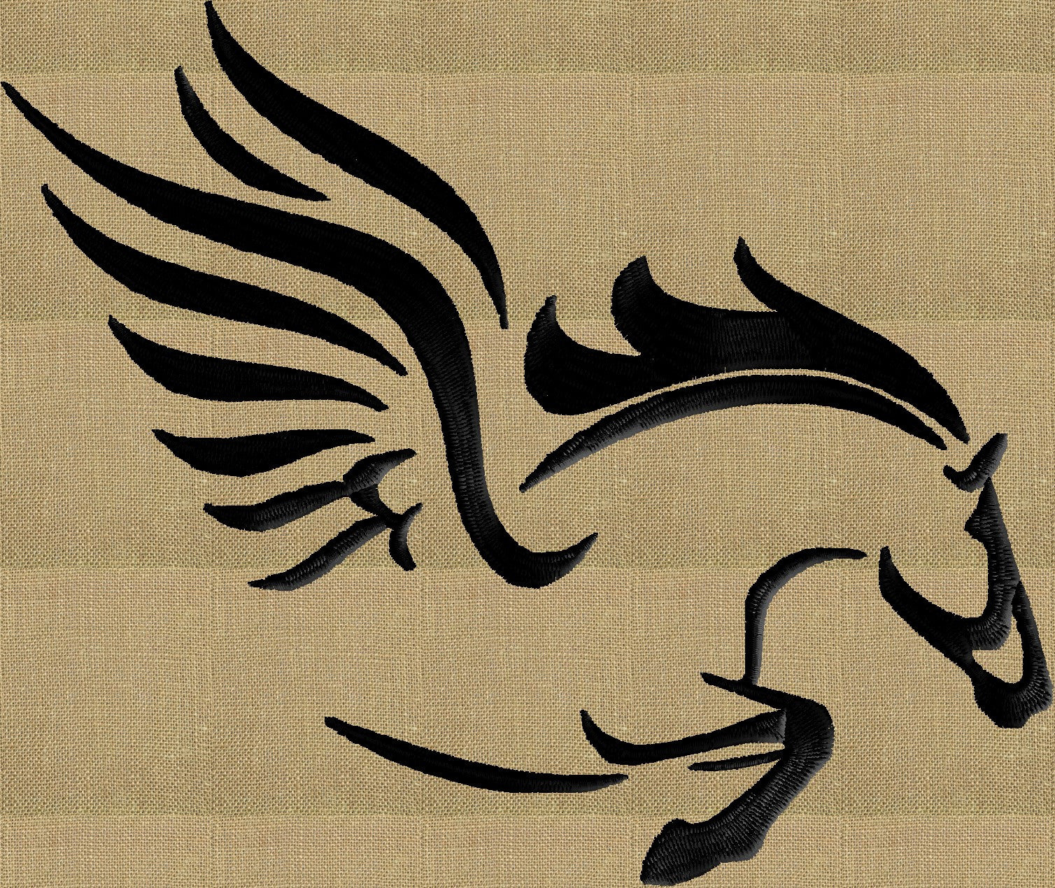 Flying Horse Pegasus Embroidery Design File Instant Download