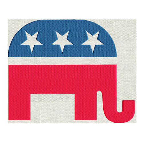 Republican Elephant Design - Politics - Embroidery DESIGN FILE