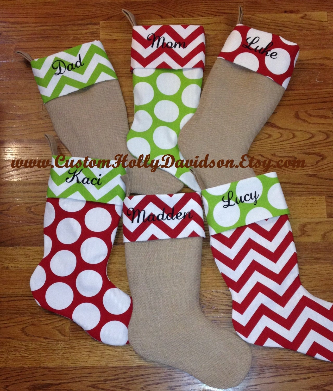 Set of 2 Custom made Christmas Stockings w/ FREE SHIPPING!