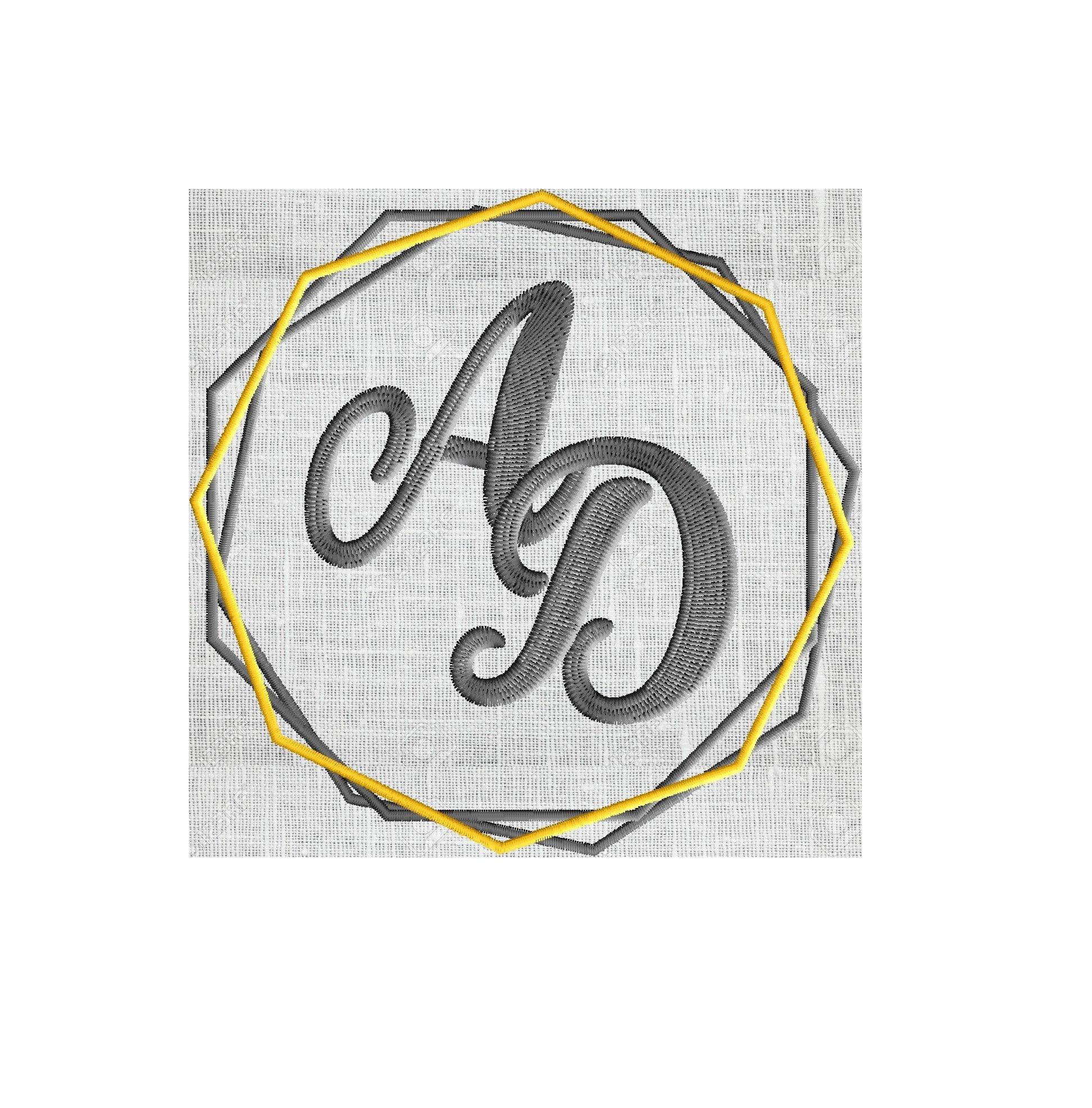 Simple Geo Font Frame Monogram Design -Font not included - EMBROIDERY DESIGN FILE - Instant download - Hus Dst Exp Jef Pes Vp3