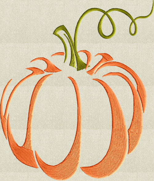 Pumpkin EMBROIDERY DESIGN FILE - Instant download Vp3 Hus Dst Exp Jef Pes formats