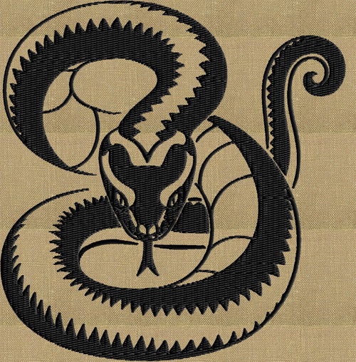 Hissing Snake - Embroidery DESIGN FILE animals