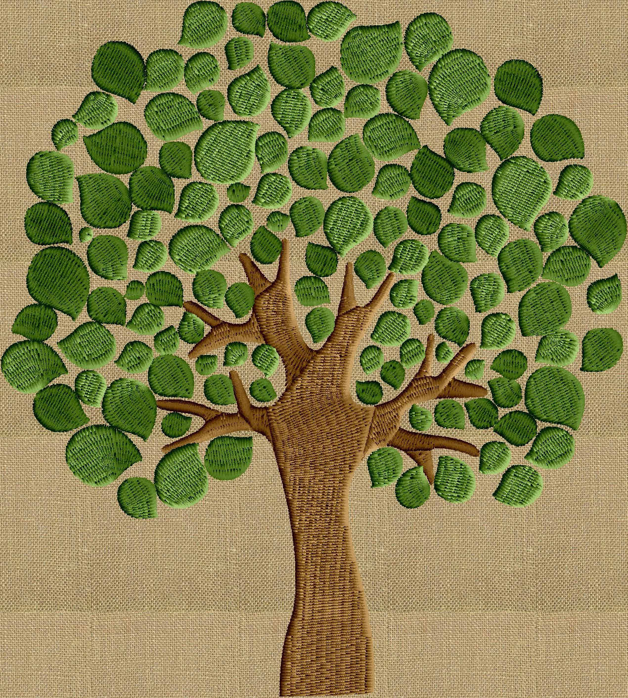 Summer Tree Embroidery Design - Instant download - fun stuff