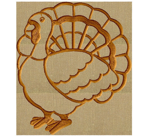 Turkey Thanksgiving EMBROIDERY DESIGN FILE animals