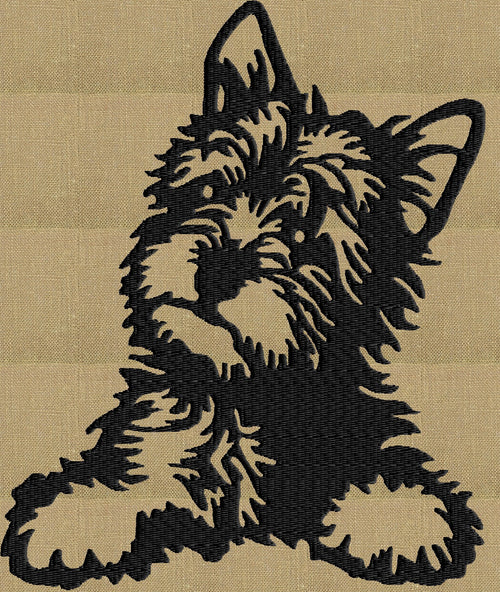 Yorkshire Terrier Yorkie - Embroidery DESIGN FILE - Instant download - animals