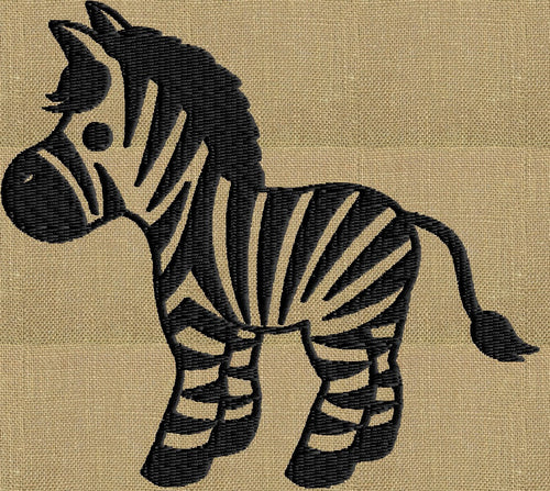 Zebra - EMBROIDERY DESIGN file - Instant download animals