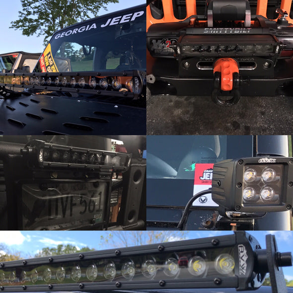 "Black out series 52"" single row light bar"