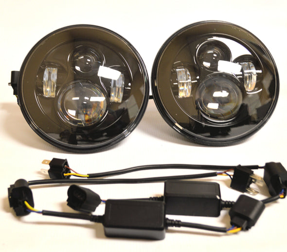Blackout Series D.O.T Approved LED Projector headlights for Jeep JK, TJ and CJ