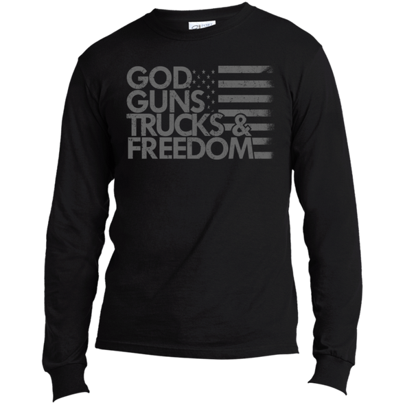 God Guns Trucks & Freedom Long Sleeve Made in the US T-Shirt