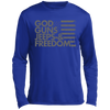 God Guns Jeeps & Freedom Long sleeve Moisture Absorbing T-Shirt