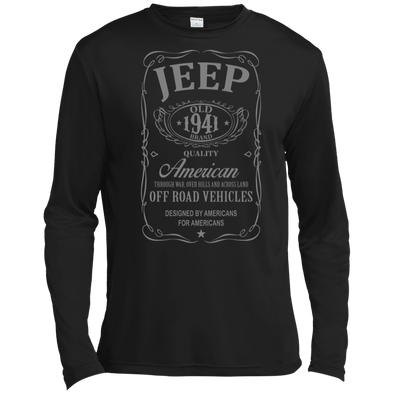 Jeep Old 1941 Tall Long Sleeve Moisture Absorbing T-Shirt