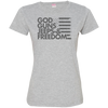 God, Guns, Jeeps & Freedom Ladies' Fine Jersey T-Shirt