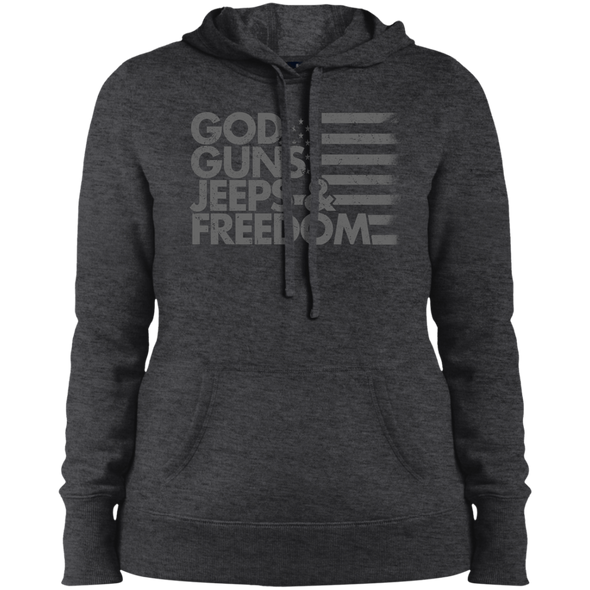 God, Guns, Jeeps & Freedom Ladies' Pullover Hooded Sweatshirt