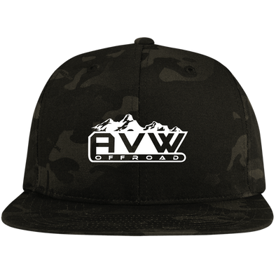 AVW Flat Bill High-Profile Snapback Hat