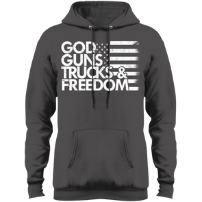 God, Guns, Trucks & Freedom Fleece Pullover Hoodie