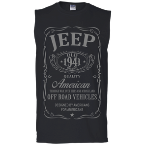 Whiskey (Grey) Cotton Sleeveless T-Shirt