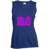 God, Guns, Jeeps & Freedom  Ladies' Sleeveless Moisture Absorbing V-Neck