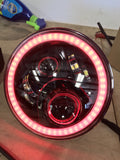 "Jeep 7"" blackout headlight with color change halo"