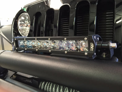 "10"" single row LED Lightbar with 3D Optical magnifiers"