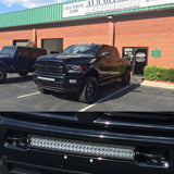 LED curved Lightbar for Ram 2500 & 3500 with tow hook mounts