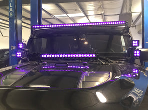 "21.5"" RGB color change Single Row lightbar"