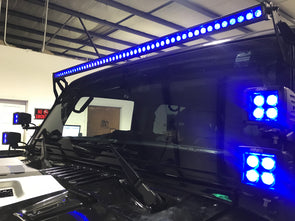 "52"" Blackout Single Row lightbar with RGB colorshift"