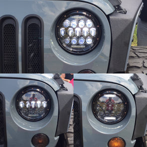 "Lucky 13  7"" Jeep Headlights with optical projectors (pair)"