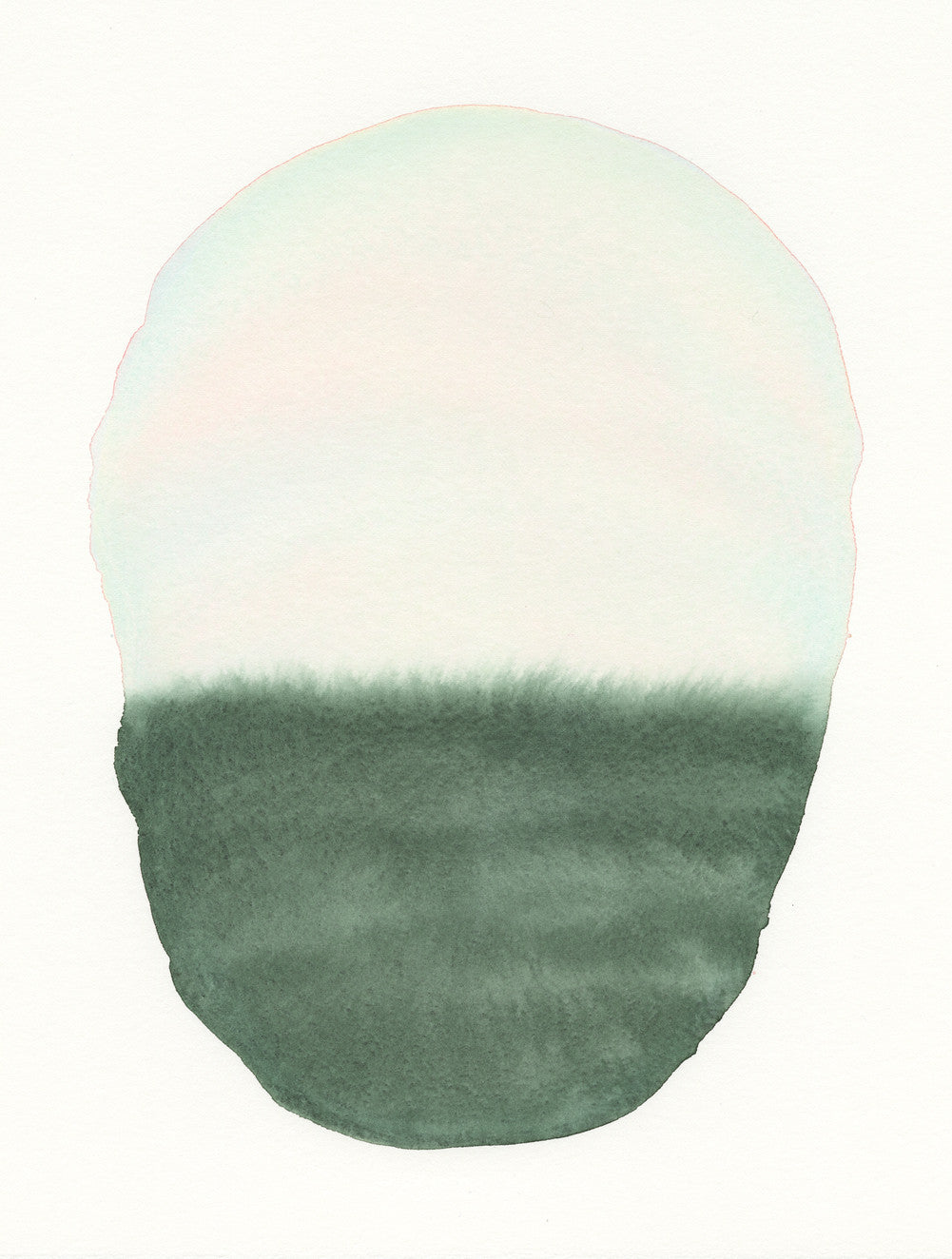 Earth Green Oval | Watercolor by Malissa Ryder