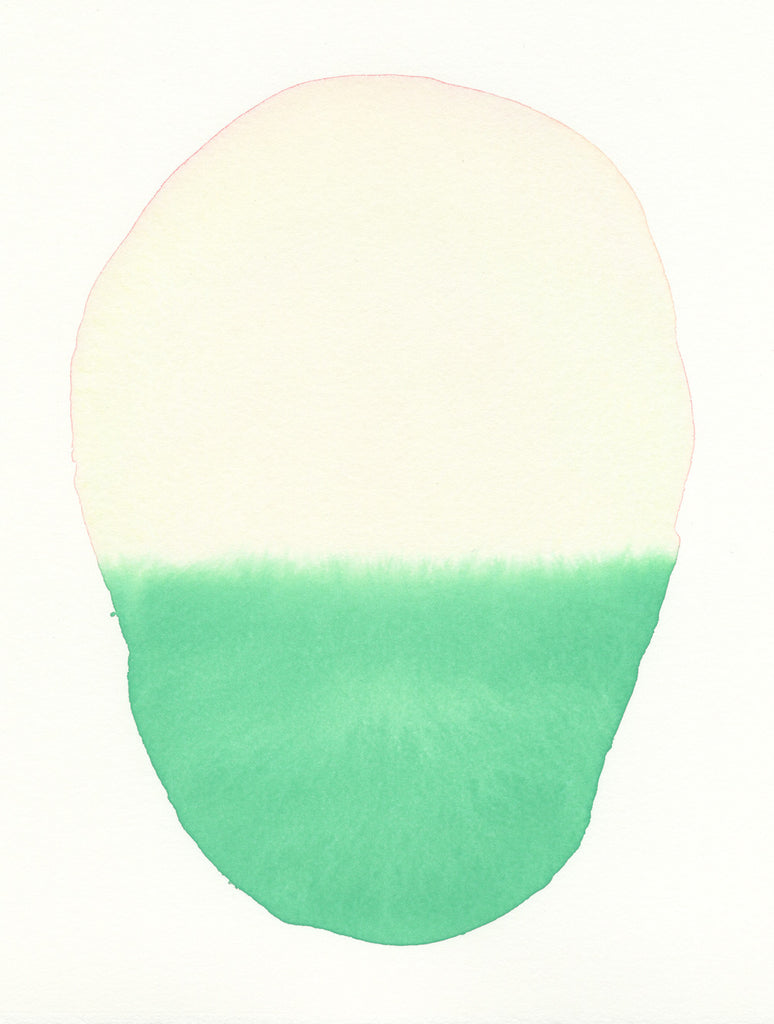 Grass Green Oval | Watercolor by Malissa Ryder