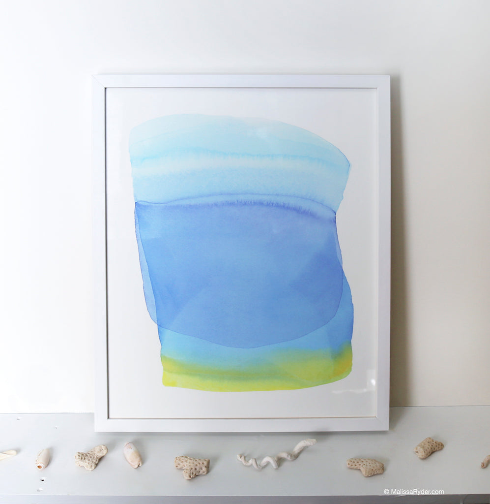 Blue Ocean Form | Print by Malissa Ryder
