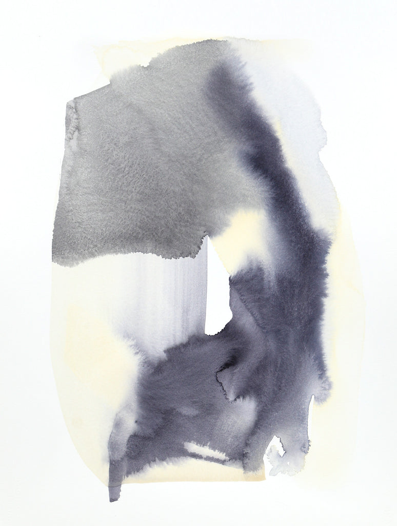 Rounded Form, Greys | Watercolor by Malissa Ryder