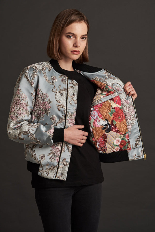womens statement bomber jacket
