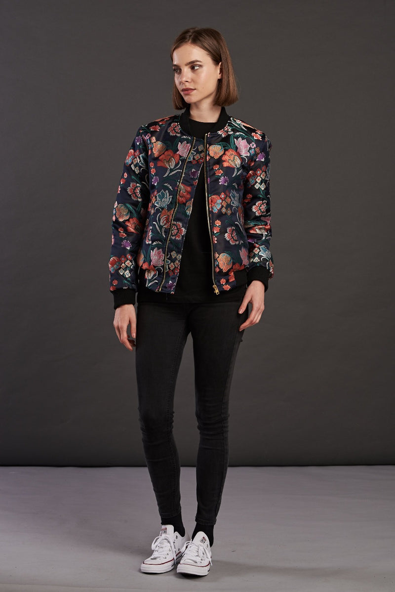 Statement bomber jacket for women