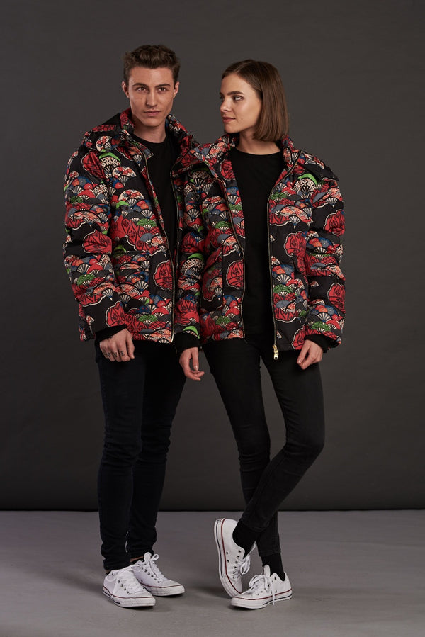 Statement puffer jacket for men and women
