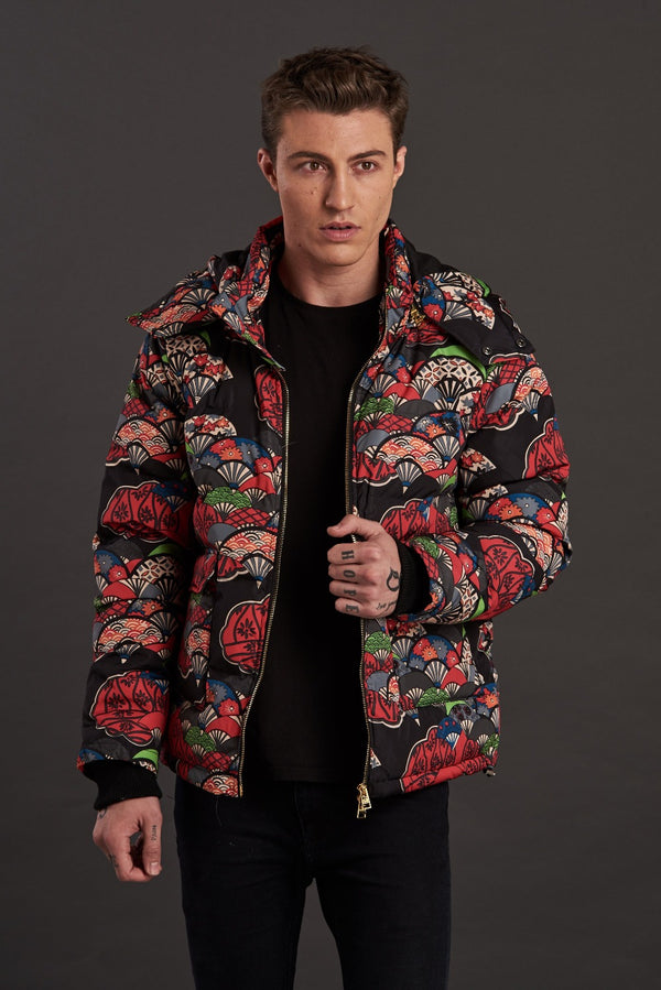 Statement puffer jacket for men