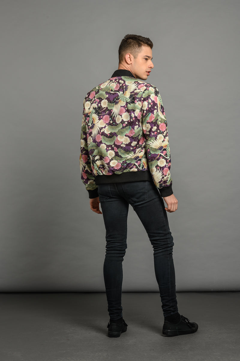 Reversible Green Sukajan Bomber Jacket