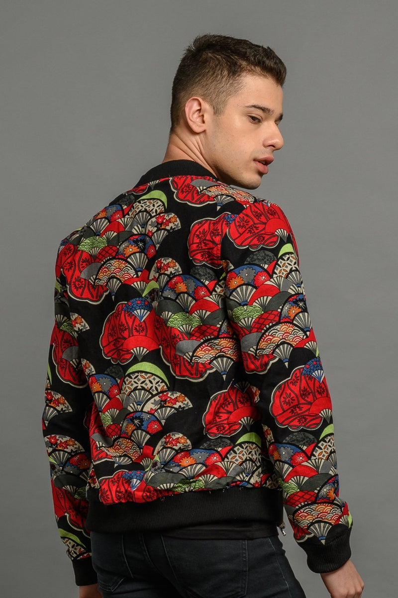 velvet reversible Statement bomber jacket for men
