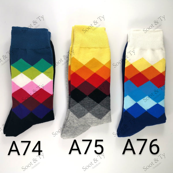 Happier Socks | #A74-A76 UK7-12 / EU41-46 / US8-13