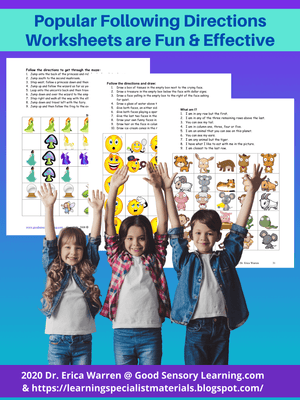 Popular Following Directions Worksheets are Fun and Effective