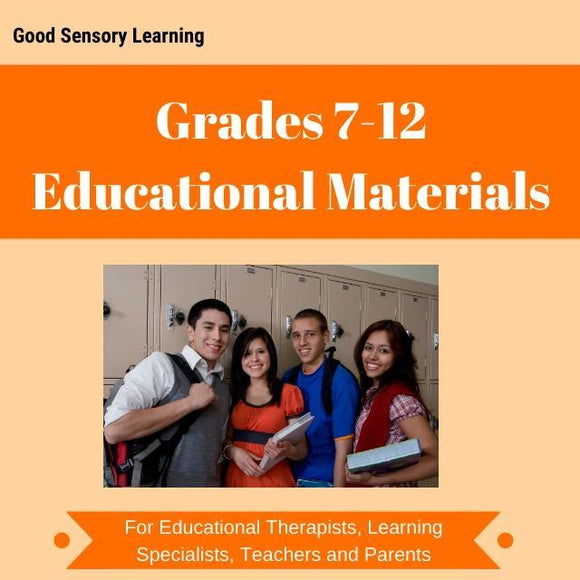 educational materials grades 7 to 12