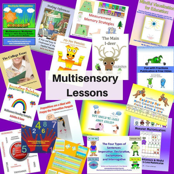 math and cognitive multisensory learning lessons