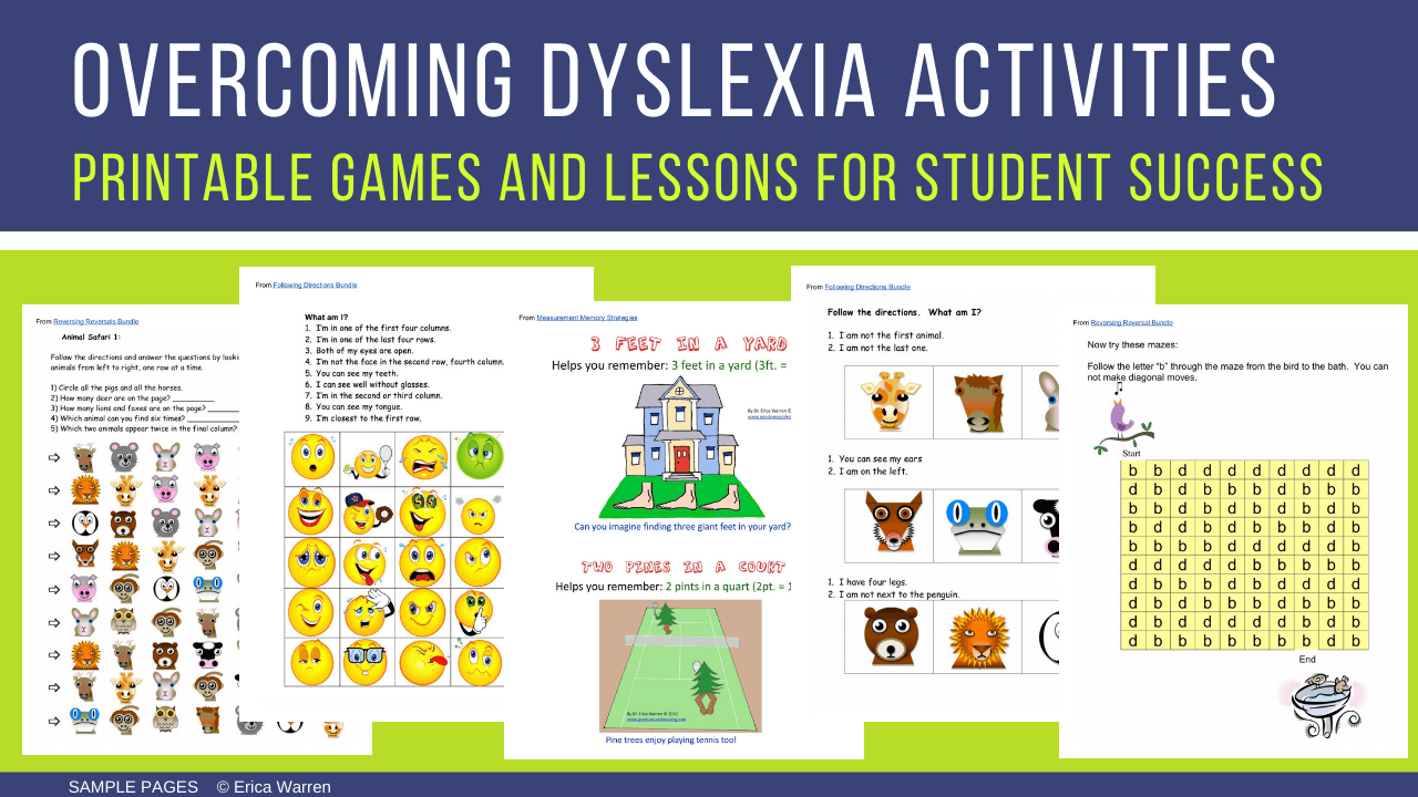 Dyslexia Activities and Lessons