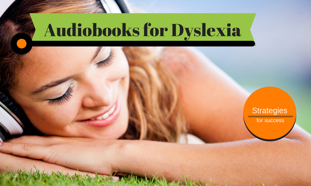 Student listening to an audiobook
