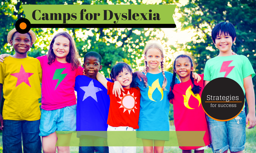 Kids arm and arm at a camp for children with dyslexia