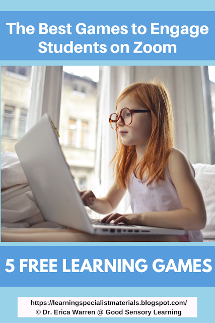 Educational Games for Zoom Sessions