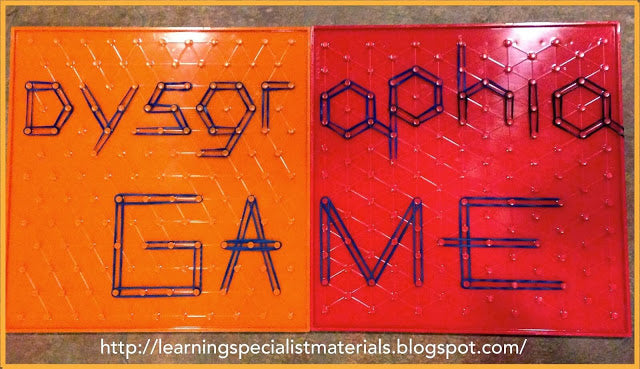 Dysgraphia and Geoboards