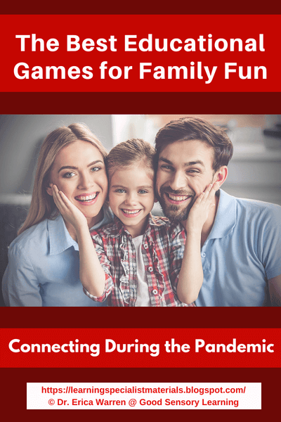 Family smiling because they're connecting and about to play a fun game