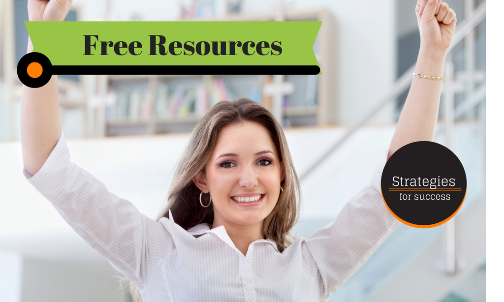 Happy student gets free resources