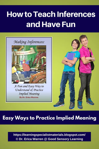 Two students smiling next to working inferences workbook