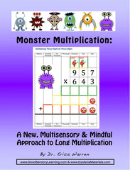 Monsters help children learn how to calculate long multiplication problems